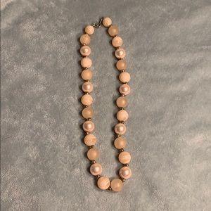 Cream beaded necklace